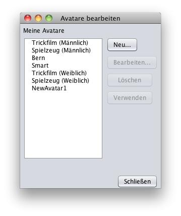 German Avatar Selection UI