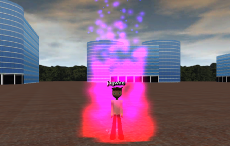 Particle effect that looks like fire.