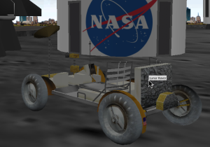 Lunar Rover with plain text tooltip
