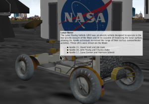 Lunar rover with HTML tooltip