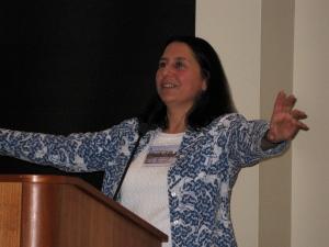 Nicole speaking at the Immersive Education Summit in Boston
