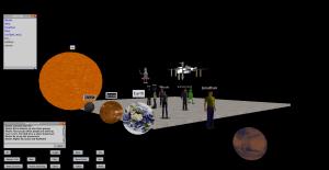 Start of a Solar System simulation