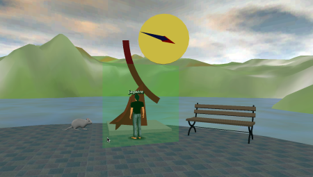 Clicking unlock from the context menu allows your avatar to walk through the force field.