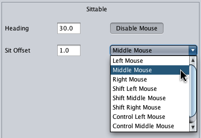 Sittable Mouse Settings