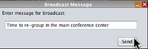 Sending a Broadcast message.