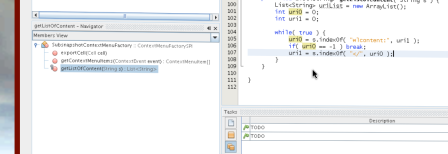 Coding using the NetBeans development environment running in-world as a shared application.