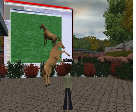 Students can interact directly with their animations in the virtual world