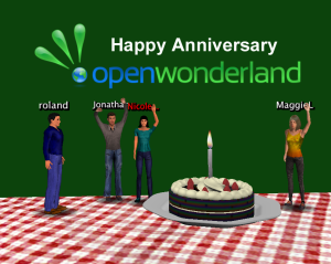 Open Wonderland first anniversary
