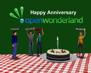 Open Wonderland first anniversary