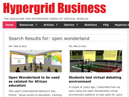 Hypergrid Business Search Results Page