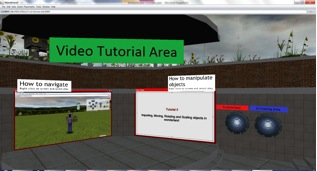 Video tutorial area