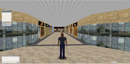 Main corridor of the mall