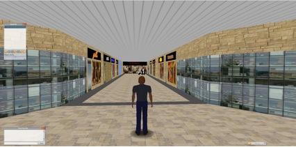 Main corridor of the mall